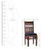 Taksh Handcrafted Six Seater Dining Set with Blue Upholstrey by Mudramark