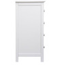 Tall Dresser in White Colour by Asian Arts