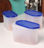 Tallboy Mahaware Space Saver Blue 1200 Ml Storage Container - Set of 3