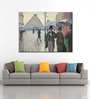 Tallenge Canvas 54 x 1 x 43 Inch Paris Street in Rainy Weather Art by Gustave Caillebotte Framed Large Digital Art Print