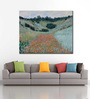 Tallenge Canvas 54 x 1 x 43 Inch Poppy Field in A Hollow Near Giverny by Claude Monet Framed Large Digital Art Print