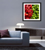 Tallenge Paper & Glass 12 x 12 Inch Chili & Capsicum Framed Photo Print