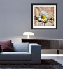 Tallenge Paper & Glass 12 x 12 Inch  White Flower Framed Digital Art Prints