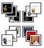 Tallenge Canvas 15 x 15 Inch Mahatma Gandhi Framed Digital Art Prints - Set of 12
