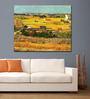 Tallenge Gallery Wrap Canvas 18 x 24 Inch Old Masters Harvest At La Crau with Montmajour by Vincent Van Gogh Framed Digital Art Print