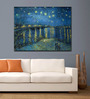Tallenge Gallery Wrap Canvas 18 x 24 Inch Old Masters Collection Starry Night Over The Rhone by Vincent Van Goghs Framed Digital Art Prints