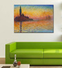 Tallenge Gallery Wrap Canvas 18 x 24 Inch Old Masters Collection Sunset In Venice by Claude Monets Framed Digital Art Prints