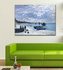 Tallenge Gallery Wrap Canvas 18 x 24 Inch Old Masters Collection The Beach At Sainte-Adresse by Claude Monets Framed Digital Art Prints
