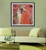 Tallenge Photographic Paper 18 x 18 Inch Old Masters Collection Girlfriends Or Two Women Friends by Gustav Klimts Framed Digital Art Prints