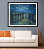 Tallenge Photographic Paper 18 x 24 Inch Old Masters Collection Starry Night Over The Rhone by Vincent Van Gogh Framed Digital Art Prints