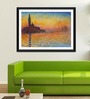 Tallenge Photographic Paper 18 x 24 Inch Old Masters Collection Sunset In Venice by Claude Monet Framed Digital Art Prints