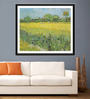 Tallenge Photographic Paper 18 x 24 Inch Old Masters Collection View of Arles with Irises by Vincent Van Goghs Framed Digital Art Prints