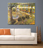 Tallenge Rolled Canvas 36 x 48 Inch Old Masters Collection The Asylum Garden At Arles by Vincent Van Gogh Unframed Digital Art Prints