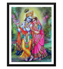 Tallenge Paper 12 x 0.5 x 17 Inch Beautiful Radha Krishna Framed Digital Poster