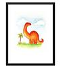 Tallenge Paper 12 x 0.5 x 17 Inch Diplodocus Dinosaur Framed Digital Poster