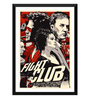 Tallenge Paper 12 x 0.5 x 17 Inch Hollywood Collection Fight Club Retro Art Framed Digital Poster