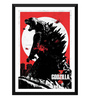Tallenge Paper 12 x 0.5 x 17 Inch Hollywood Collection Godzilla Art Empire Framed Digital Poster