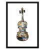 Tallenge Paper 12 x 0.5 x 17 Inch Painting of A Violin Thats Been Places Framed Digital Poster