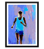 Tallenge Paper 12 x 0.5 x 17 Inch Spirit of Sports Abstract Painting The Runner Framed Digital Poster