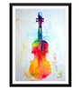 Tallenge Paper 12 x 0.5 x 17 Inch The Colorful Violin Framed Digital Poster