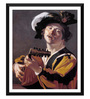 Tallenge Paper 12 x 0.5 x 17 Inch The Lute Player Framed Digital Poster