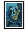 Tallenge Paper 12 x 0.5 x 17 Inch The Punk Guitarist Picasso Style Framed Digital Poster