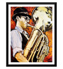 Tallenge Paper 12 x 0.5 x 17 Inch The Saxophonist Framed Digital Poster