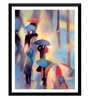 Tallenge Paper 14 x 0.5 x 18 Inch A Rainy Night View Framed Digital Poster