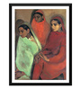 Tallenge Paper 14 x 0.5 x 18 Inch Amrita Sher Gil Group of Three Girls Framed Digital Poster