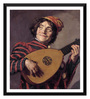 Tallenge Paper 16 x 0.5 x 18 Inch The Lute Player by Frans Hals Framed Digital Poster