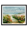 Tallenge Paper 17 x 0.5 x 12 Inch A Path to Reach Your Goal Framed Digital Poster