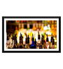 Tallenge Paper 17 x 0.5 x 12 Inch Crowded Bar Counter Framed Digital Poster
