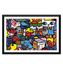 Tallenge Paper 17 x 0.5 x 12 Inch Different Colors of Life Framed Digital Poster