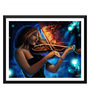 Tallenge Paper 17 x 0.5 x 12 Inch Girl with The Burning Violin Framed Digital Poster