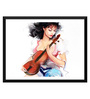 Tallenge Paper 17 x 0.5 x 12 Inch Girl with The Violin 2 Framed Digital Poster