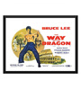 Tallenge Paper 17 x 0.5 x 12 Inch Hollywood Collection Bruce Lee Art Way of The Dragon Framed Digital Poster