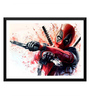 Tallenge Paper 17 x 0.5 x 12 Inch Hollywood Collection Deadpool Framed Digital Poster