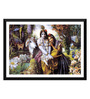 Tallenge Paper 17 x 0.5 x 12 Inch Lord Krishna with Radha Framed Digital Poster