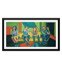 Tallenge Paper 17 x 0.5 x 12 Inch The Band Framed Digital Poster