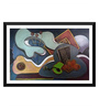 Tallenge Paper 17 x 0.5 x 12 Inch The Persistence of Music Framed Digital Poster