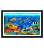 Tallenge Paper 17 x 0.5 x 12 Inch Tropical Colorful Fish Framed Digital Poster