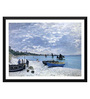 Tallenge Paper 18 x 0.5 x 14 Inch Claude Monet The Beach At Sainte Adresse Framed Digital Poster