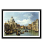 Tallenge Paper 18 x 0.5 x 14 Inch The Entrance to The Grand Canal Venice Framed Digital Poster