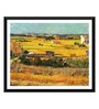 Tallenge Paper 18 x 0.5 x 14 Inch Vincent Van Gogh Harvest At La Crau with Montmajour in The Background Framed Digital Poster