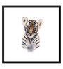 Tallenge Paper 18 x 0.5 x 18 Inch Cute Baby Tiger Framed Digital Poster