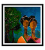 Tallenge Paper 18 x 0.5 x 18 Inch Twin Sisters Indian Abstract Framed Digital Poster