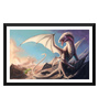 Tallenge Paper 24 x 0.5 x 15 Inch Fantasy of A Dragon Framed Digital Poster