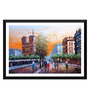 Tallenge Paper 24 x 0.5 x 16 Inch An Evening View of A Street Framed Digital Poster