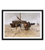 Tallenge Paper 24 x 0.5 x 16 Inch Fishing Boat on The Beach Framed Digital Poster