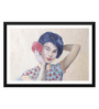 Tallenge Paper 24 x 0.5 x 16 Inch Portrait of A Japanese Woman Framed Digital Poster